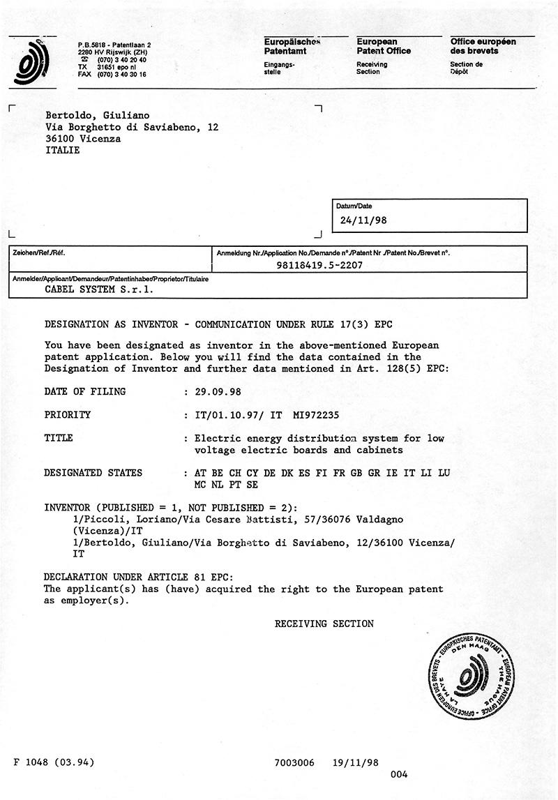 Certificazioni e brevetti cabel system srl - Verifica rapporto aeroilluminante ...
